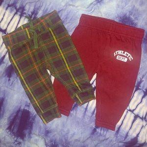 ✨4/$15✨2 Baby boy Pants 0-3m